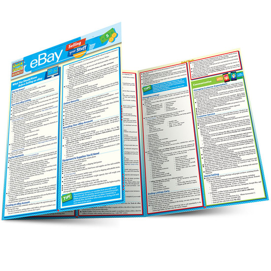Quick Study QuickStudy eBay Business: Selling Your Stuff Laminated Reference Guide BarCharts Publishing eCommerce Outline Main Image