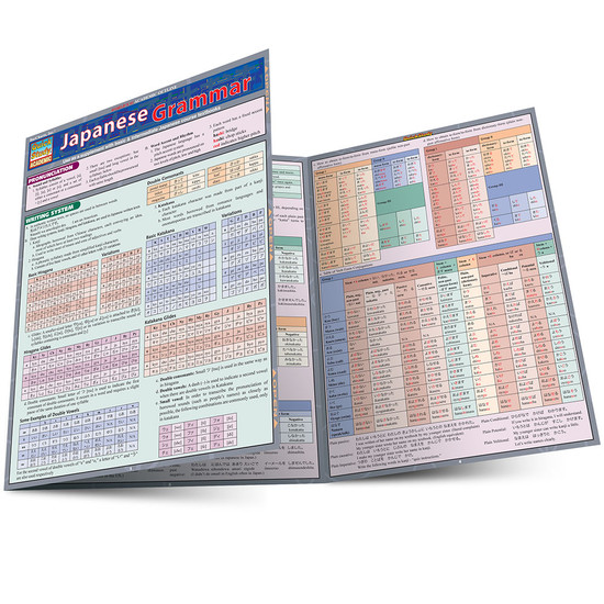 Quick Study QuickStudy Japanese Grammar Laminated Study Guide BarCharts Publishing Japanese Guide Main Image