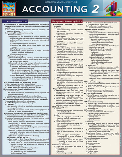 QuickStudy | Accounting 2 Laminated Study Guide