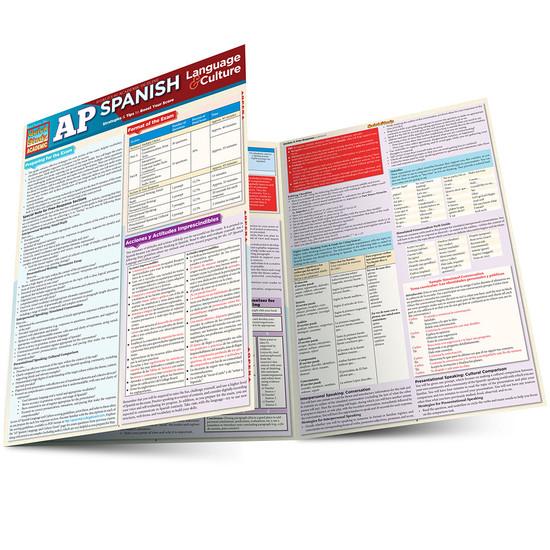 Quick Study QuickStudy AP Spanish: Language & Culture Laminated Study Guide BarCharts Publishing Education Main Image