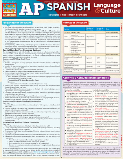 Quick Study QuickStudy AP Spanish: Language & Culture Laminated Study Guide BarCharts Publishing Education Cover Image