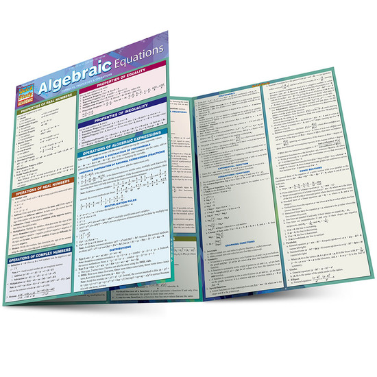 QuickStudy | Algebraic Equations Laminated Study Guide