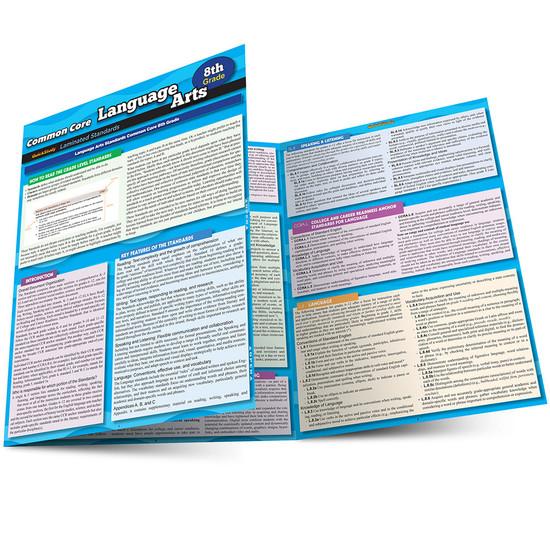 QuickStudy Common Core: Language Arts 8th Grade Laminated Study Guide