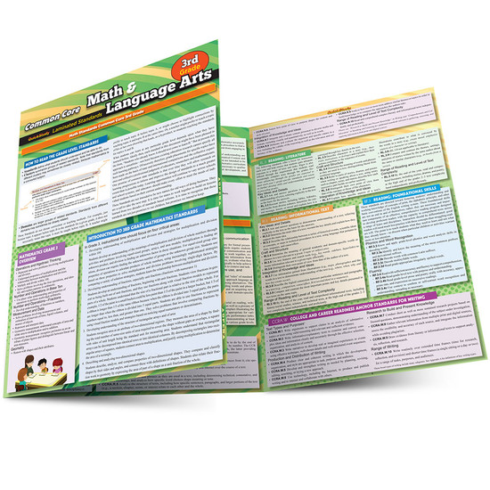 QuickStudy | Common Core: Math & Language Arts - 3rd Grade Laminated Study Guide