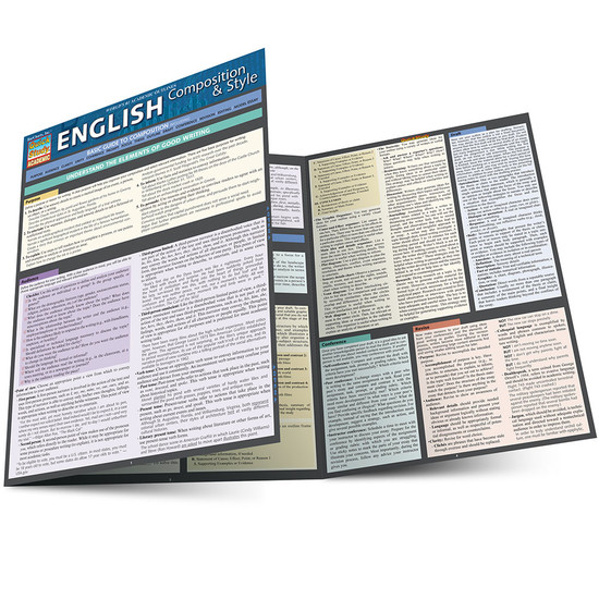 QuickStudy | English Composition & Style Laminated Study Guide