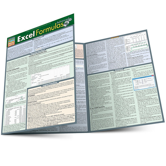 QuickStudy | Excel Formulas Advanced Laminated Reference Guide