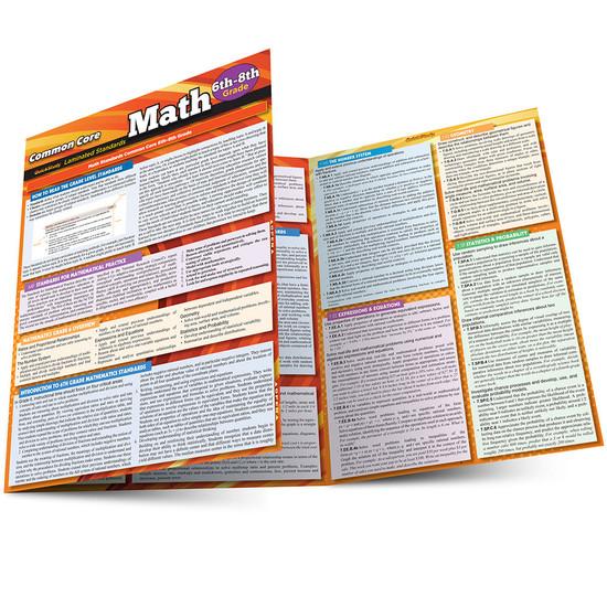 QuickStudy | Common Core: Math 6th - 8th Grade Laminated Study Guide