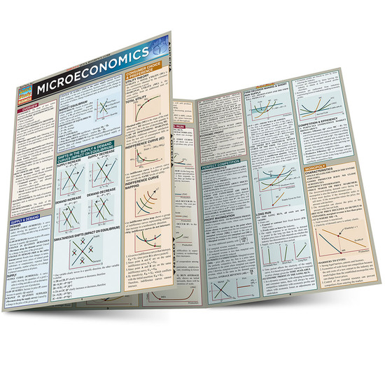 QuickStudy Quick Study Microeconomics Laminated Study Guide BarCharts Publishing Business Economics Main Image