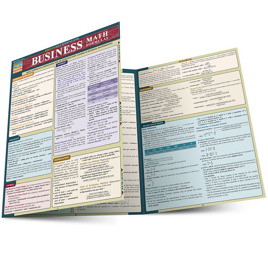 QuickStudy   Business Math Formulas Laminated Study Guide