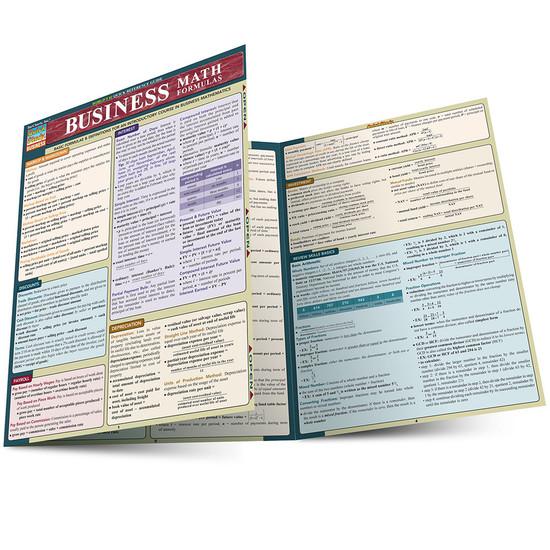 Quick Study QuickStudy Business Math Formulas Laminated Study Guide BarCharts Publishing Math Guide Main Image