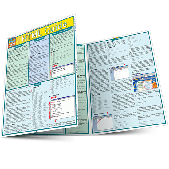 Quick Study QuickStudy HTML Guide Laminated Reference Guide BarCharts Publishing Computer Guide Main Image