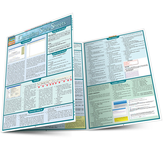 Quick Study QuickStudy Cascading Style Sheets Laminated Reference Guide BarCharts Publishing Computer Education Main Image