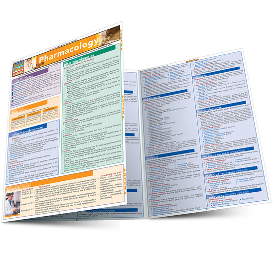 QuickStudy Quick Study Pharmacology Laminated Study Guide BarCharts Publishing Medical Study Guide Main Image