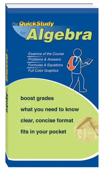 QuickStudy for Algebra Study Book