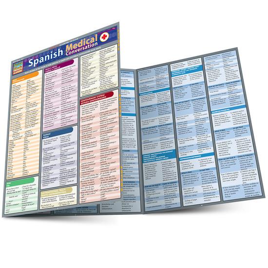 Quick Study QuickStudy Spanish Medical Conversation Laminated Study Guide BarCharts Publishing Main Image