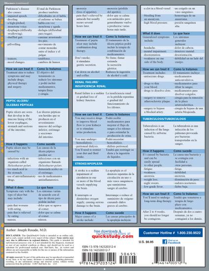 Quick Study QuickStudy Spanish Medical Conversation Laminated Study Guide BarCharts Publishing Back Image