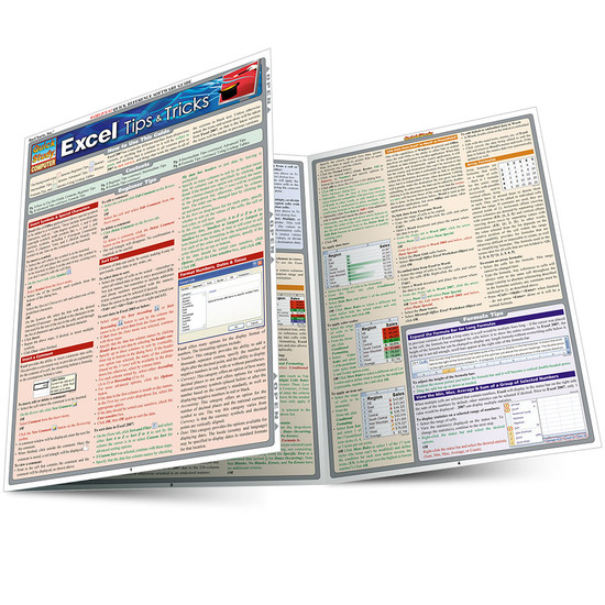 QuickStudy Quick Study Excel Tips & Tricks Laminated Study Guide BarCharts Publishing Computer Guide Main Image