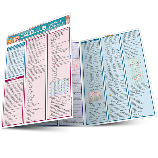 QuickStudy Quick Study Calculus Equations & Answers Laminated Study Guide BarCharts Publishing Math Main Image