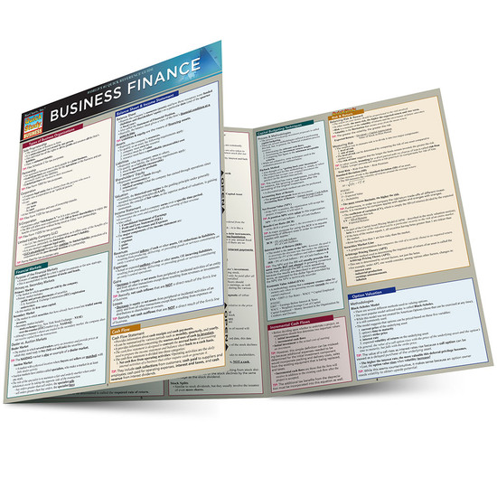 Quick Study QuickStudy Business Finance Laminated Study Guide BarCharts Publishing Business Guide Main Image
