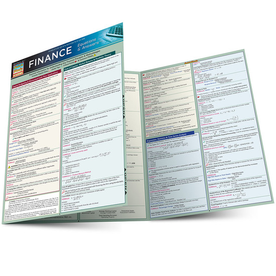 Quick Study QuickStudy Finance Equations & Answers Laminated Study Guide BarCharts Publishing Main Image