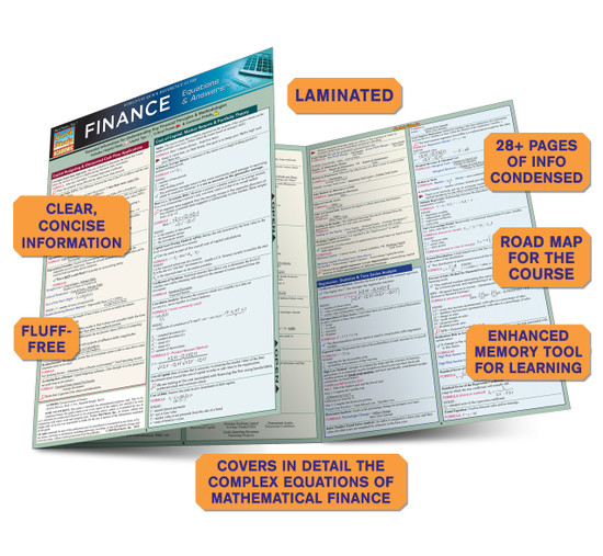 Quick Study QuickStudy Finance Equations & Answers Laminated Study Guide BarCharts Publishing Guide Benefits