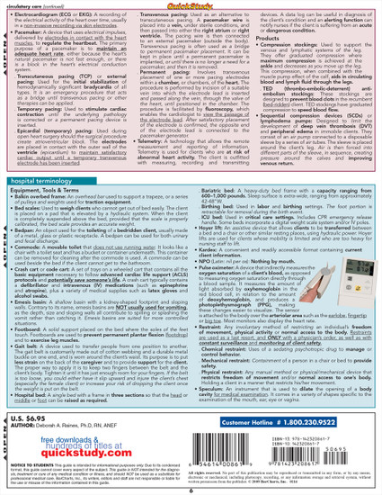 Quick Study QuickStudy Nursing Terminology Laminated Study Guide BarCharts Publishing Medical Guide Back Image