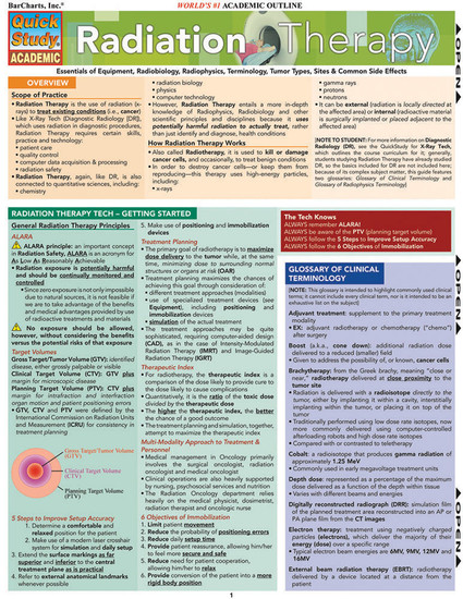 QuickStudy | Radiation Therapy Laminated Study Guide