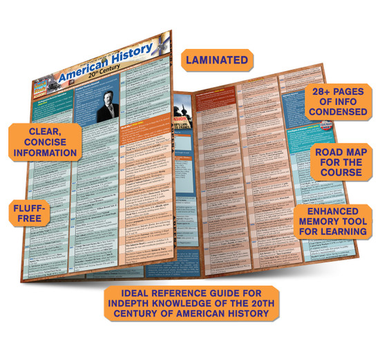 Quick Study QuickStudy American History: 20th Century Laminated Study Guide BarCharts Publishing Guide Benefits