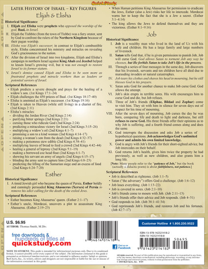 Quick Study QuickStudy Bible Characters: Old Testament Laminated Study Guide BarCharts Publishing Back Image