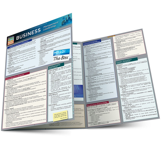 Quick Study QuickStudy Business Management Leadership Laminated Reference Guide BarCharts Publishing Main Image