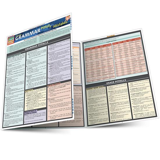 Quick Study QuickStudy Common Grammar Pitfalls & Mistakes Laminated Study Guide BarCharts Publishing Main Image