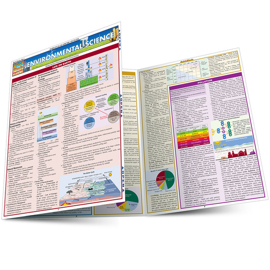 Quick Study QuickStudy Environmental Science Laminated Study Guide BarCharts Publishing Science Reference Main Image