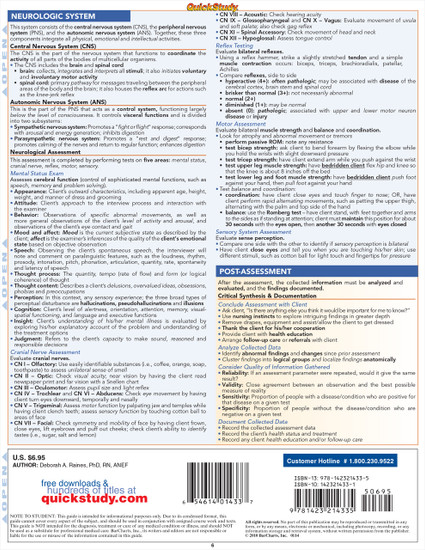 QuickStudy | Nursing Assessment Laminated Study Guide