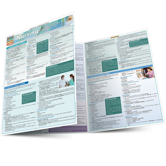Quick Study QuickStudy Nursing: Surgical Laminated Study Guide BarCharts Publishing Medical Guide Main Image