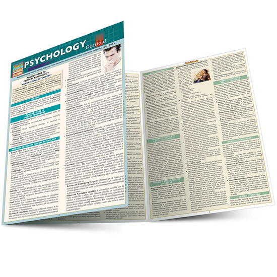 QuickStudy | Psychology: Clinical Laminated Study Guide