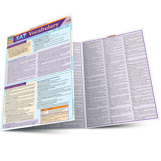 QuickStudy   SAT: Vocabulary Laminated Study Guide