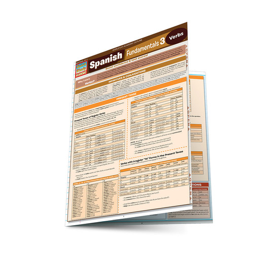 QuickStudy | Spanish Fundamentals 3 Laminated Study Guide