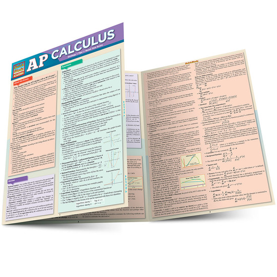 Quick Study QuickStudy AP Calculus Laminated Study Guide BarCharts Publishing Academic Math Guide Main Image