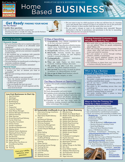 Quick Study QuickStudy Home-Based Business Laminated Study Guide BarCharts Publishing Business Reference Cover Image