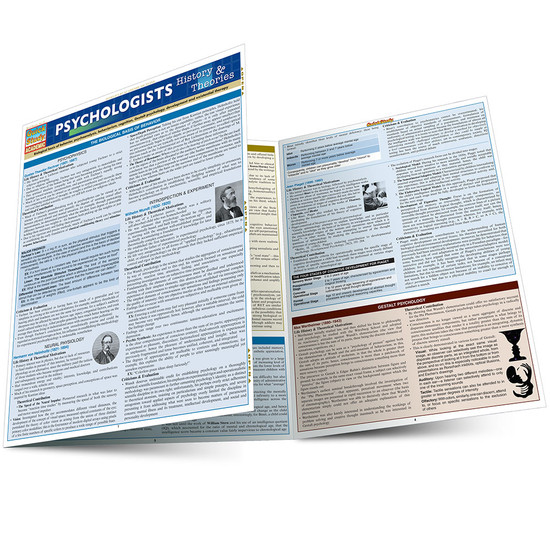 Quick Study QuickStudy Psychologists: History & Theories Laminated Study Guide BarCharts Publishing Social Science Reference Main Image