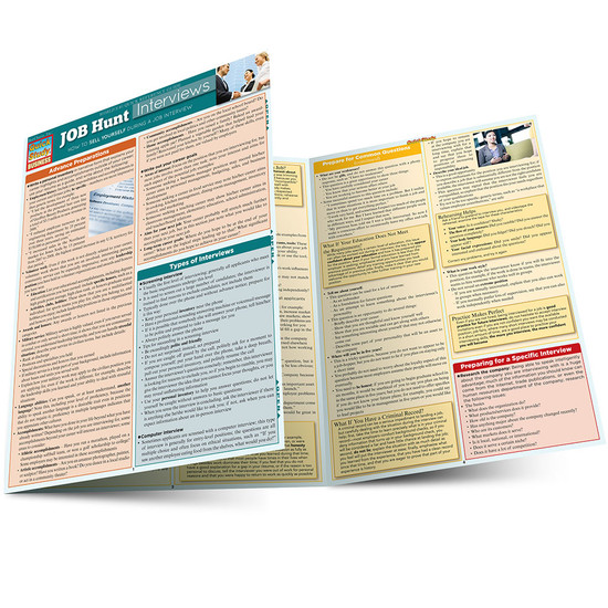 Quick Study QuickStudy Job Hunt: Interviews Laminated Reference Guide BarCharts Publishing career Reference Guide Main Image