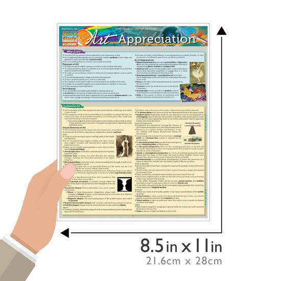 Quick Study QuickStudy Art Appreciation Laminated Study Guide BarCharts Publishing Arts Study Guide Size