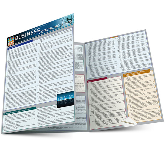 Quick Study QuickStudy Business Communications Laminated Study Guide BarCharts Publishing Career Education Main Image