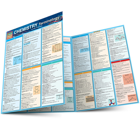 QuickStudy Quick Study Chemistry Terminology Laminated Study Guide BarCharts Publishing Science Main Image