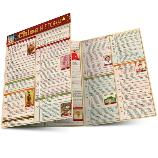 Quick Study QuickStudy China History Laminated Study Guide BarCharts Publishing  History Reference Guide Main Image