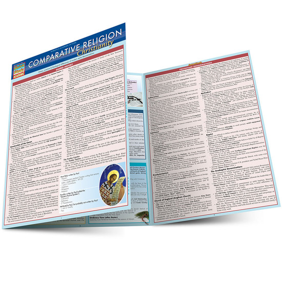 Quick Study QuickStudy Comparative Religion: Christianity Laminated Study Guide BarCharts Publishing Social Science Reference Guide Main Image