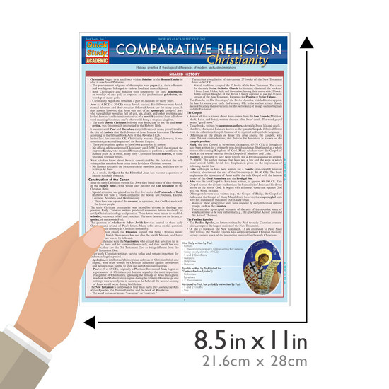 Quick Study QuickStudy Comparative Religion: Christianity Laminated Study Guide BarCharts Publishing Social Science Reference Guide Size