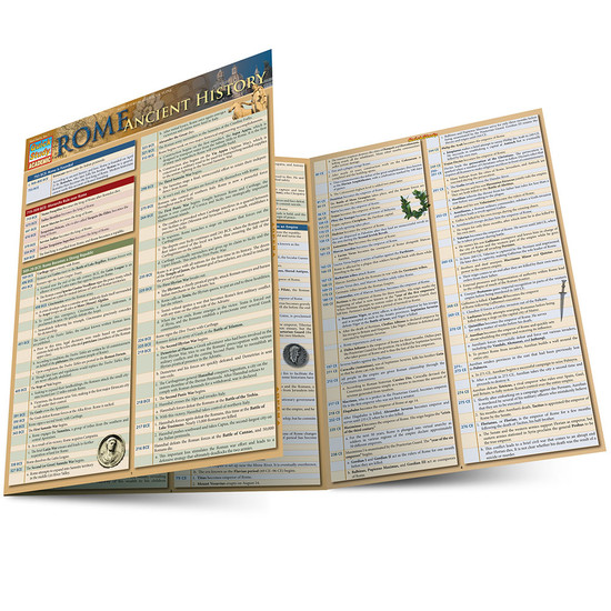 Quick Study QuickStudy Rome: Ancient History Laminated Study Guide BarCharts Publishing World Historical Reference Guide Main Image
