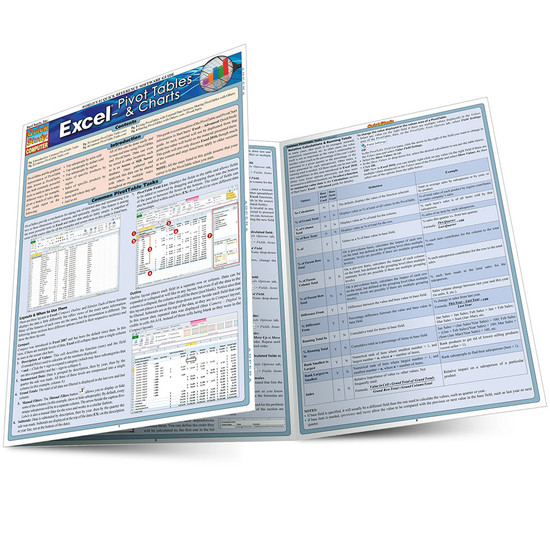 QuickStudy Quick Study Excel: Pivot Tables & Charts Laminated Study Guide BarCharts Publishing Tech Guide Main Image