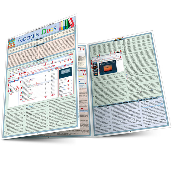 Quick Study QuickStudy Google Docs Laminated Reference Guide BarCharts Publishing Computer Guide Main Image